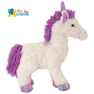 white-unicorn plush